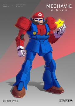 Zaku II x Mario (Happy Mar10 Day)