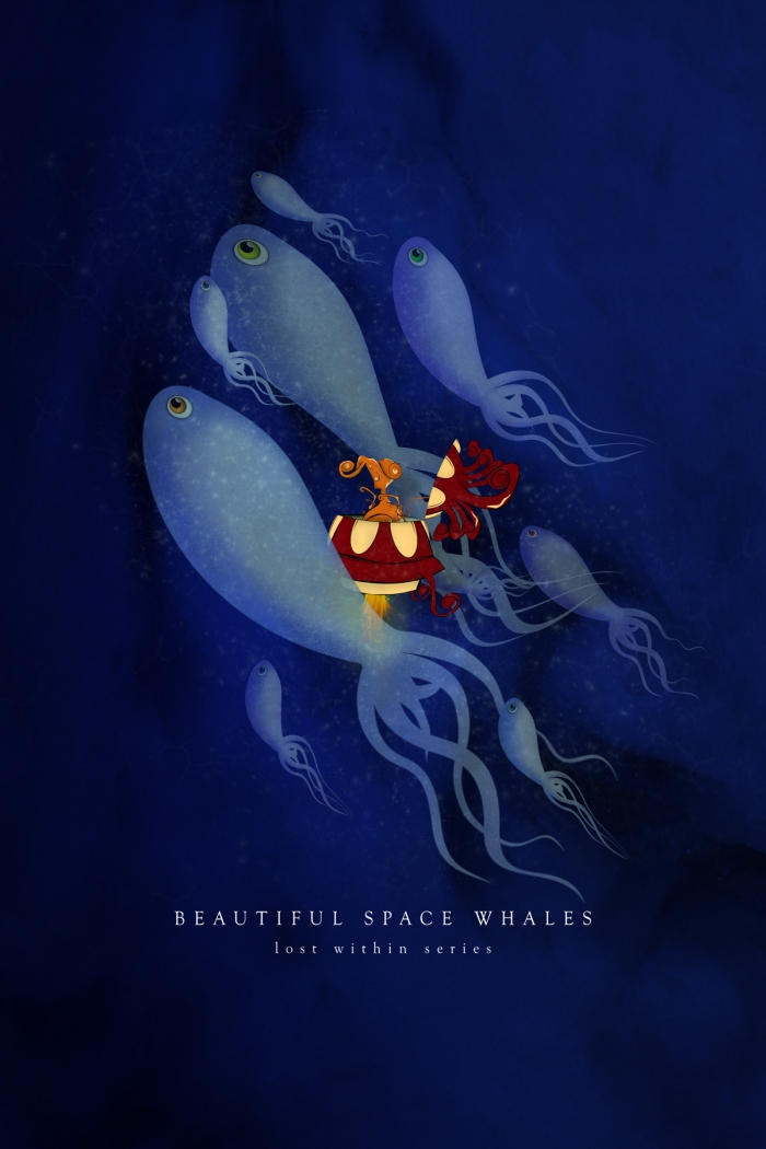 Beautiful Space Whales...pv by Ikabe