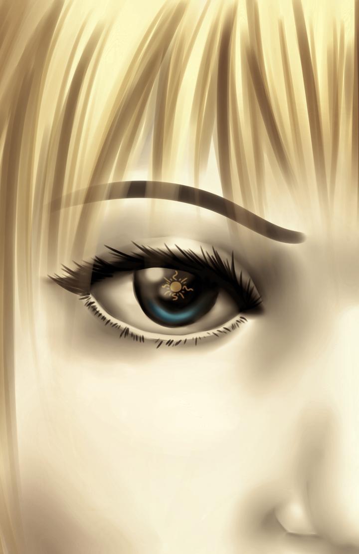 Doodle: Rose's eye by liferaven