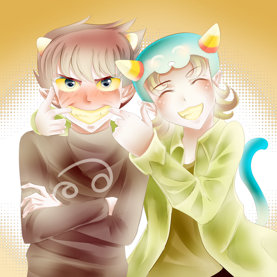 HOMESTUCK: Karkat and Nepeta by liferaven