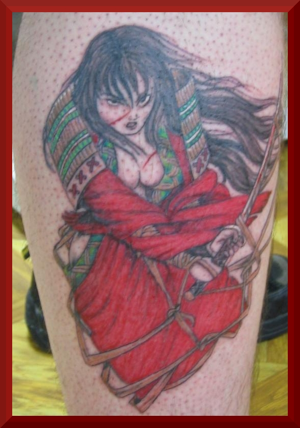 Simson tattoo for Female samurai tattoo