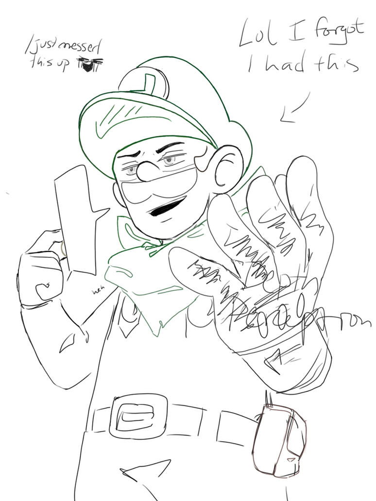 Mr L | messing up unfinished drawings =_= by Watson-Holmes