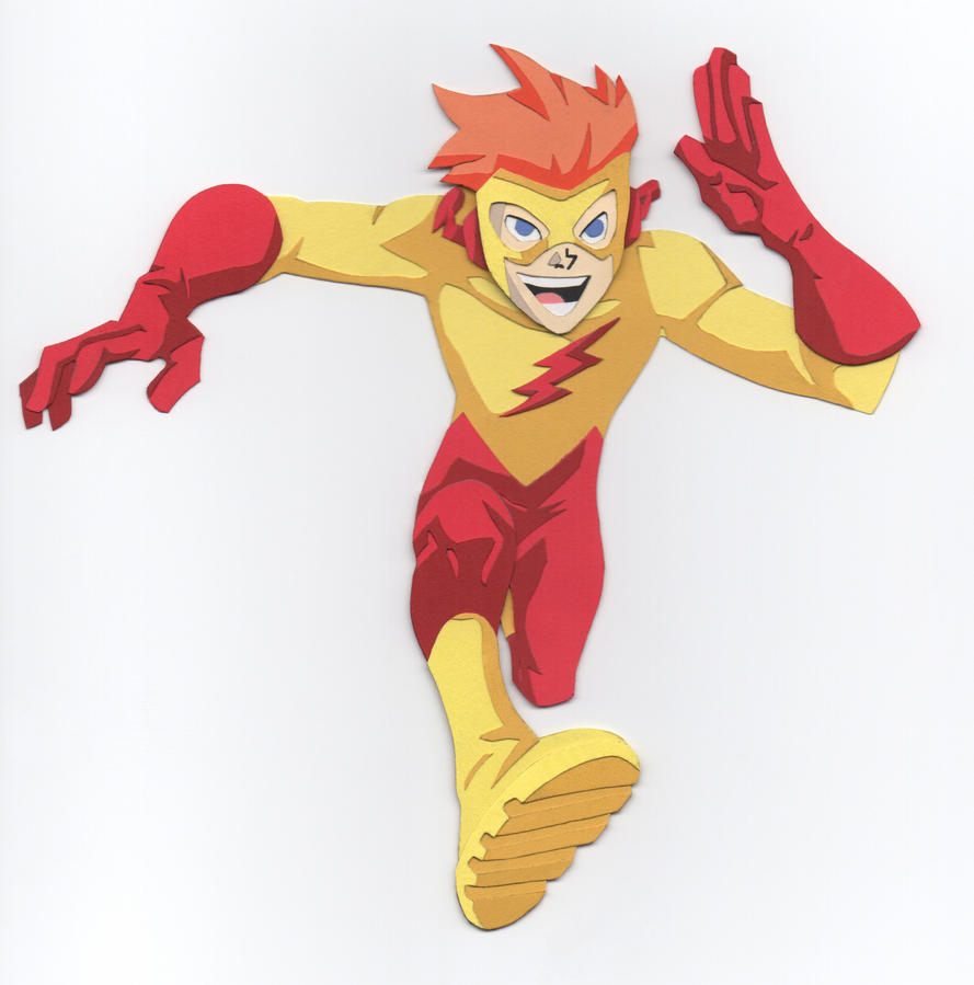 Kid Flash (Teen Titans animated) paper cutout by say-andy on ...