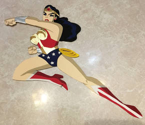 Wonder Woman (Brave and the Bold) paper cutout