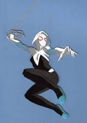Spider-Gwen paper cutout