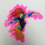 Jean Grey (90s X-Men) paper cutout