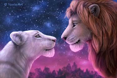 Simba and Nala by Vawie-Art