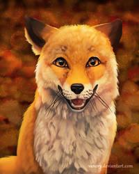 Foxy Smile by Vawie-Art