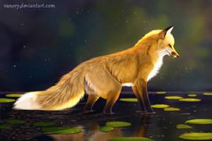 Attentive Fox by Vawie-Art