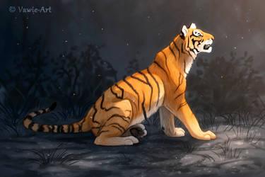 Sitting Tiger