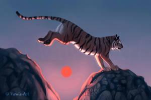 Red Sun by Vawie-Art