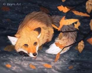 Last Leaves by Vawie-Art