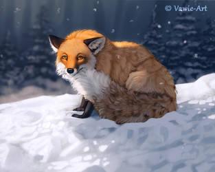 Skeptical Fox by Vawie-Art