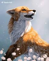 Happy Fox 3 by Vawie-Art