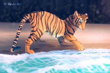 Tiger at the Beach