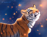 Tiger and Butterflies (2)