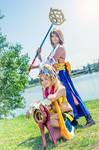 Rikku Thief and Yuna Summoner - Final Fantasy X-2