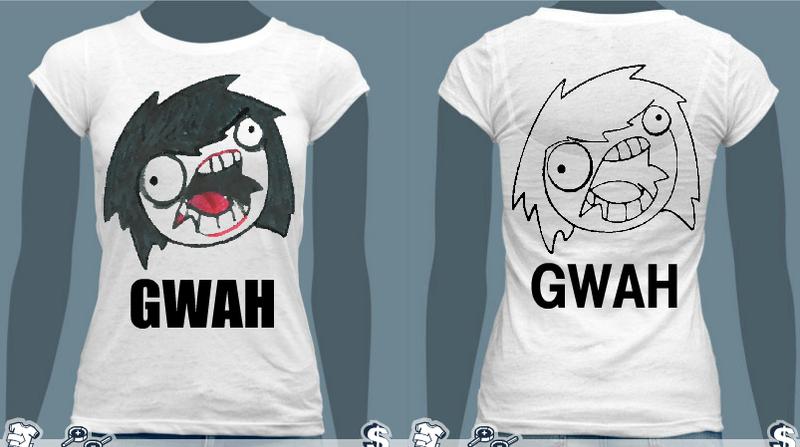 Jeff the Killer GWAH FACE T-Shirt by Alanna-MacKenzie