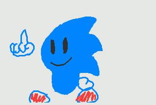 Sonic Chibi...Sorta. by ChaoticArtist1