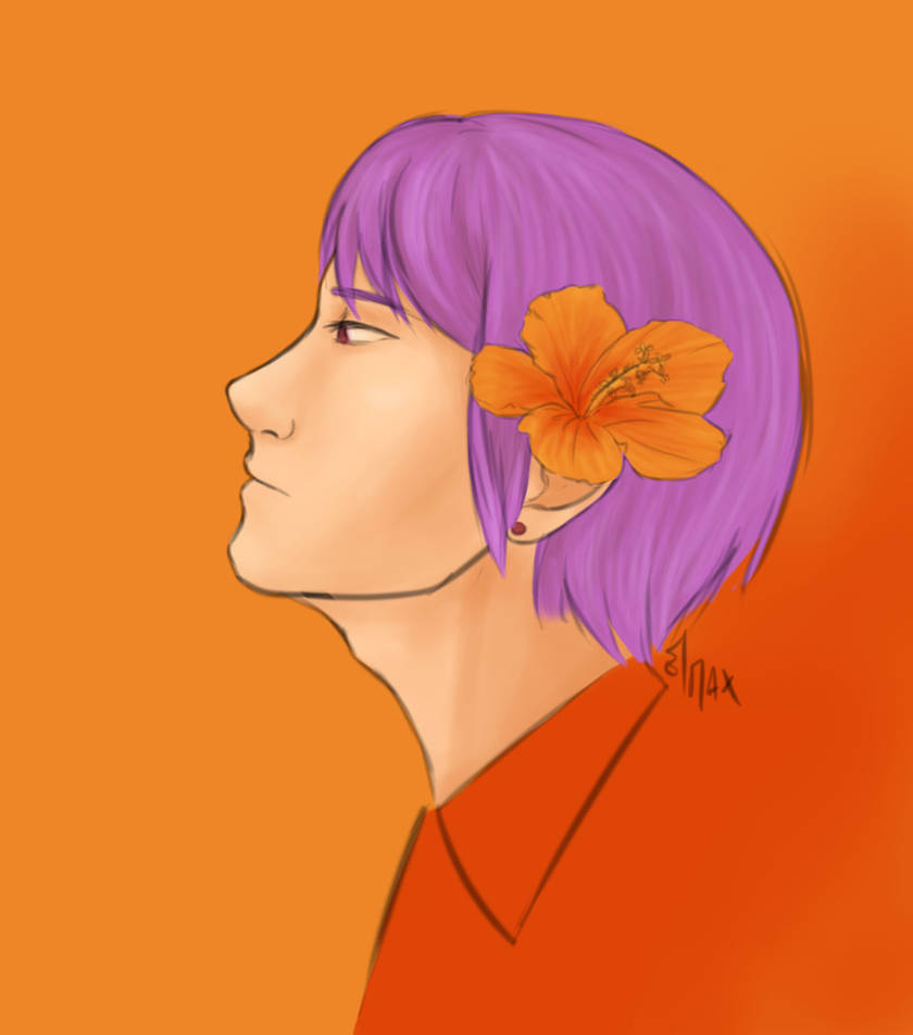 TG Week - Day 7 - Orange Hibiscus by fleur-de-lys59