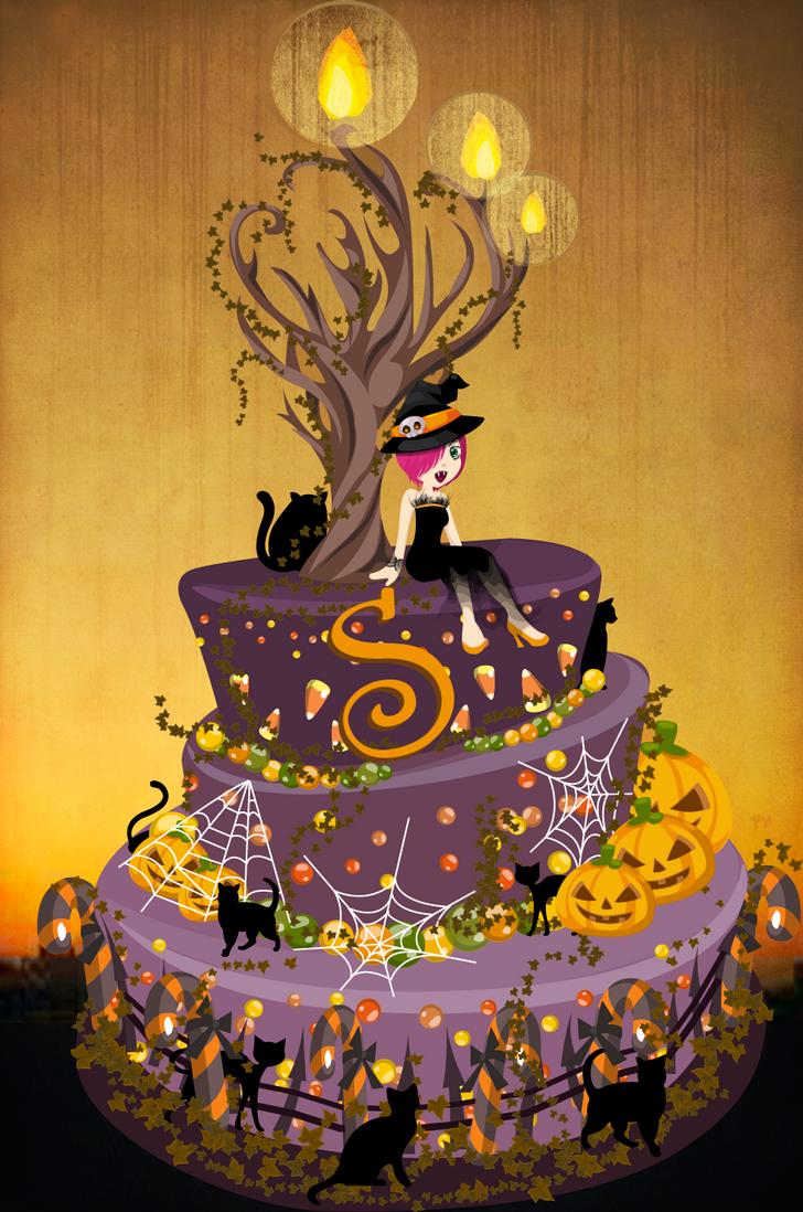 Halloween Birthday Cake By Luvlemontea On Deviantart