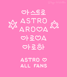 ASTRO lettering
