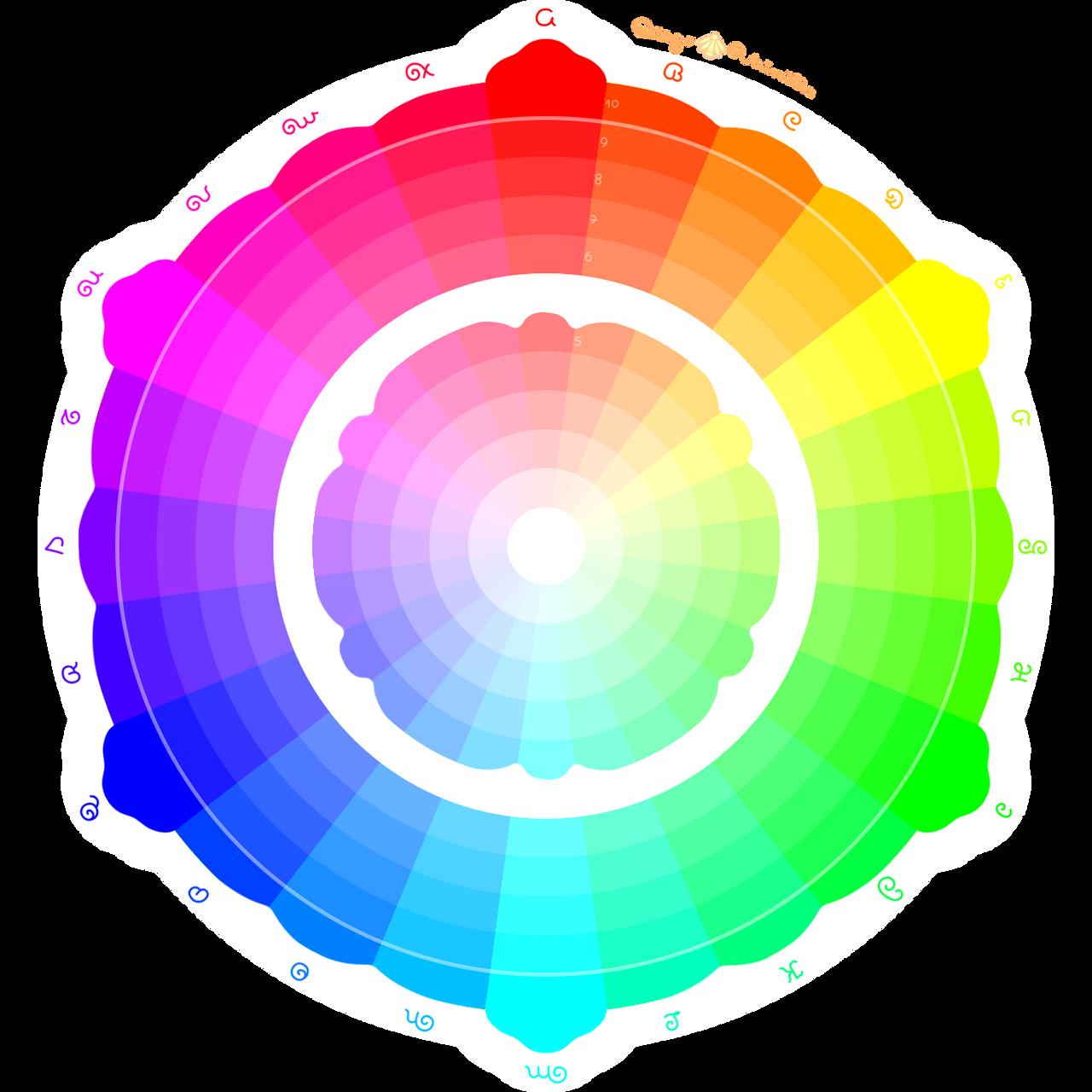 24 colours flower