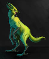 bird dragon man thing by Brainmatters