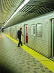 Lines in a Toronto Subway by Bayho