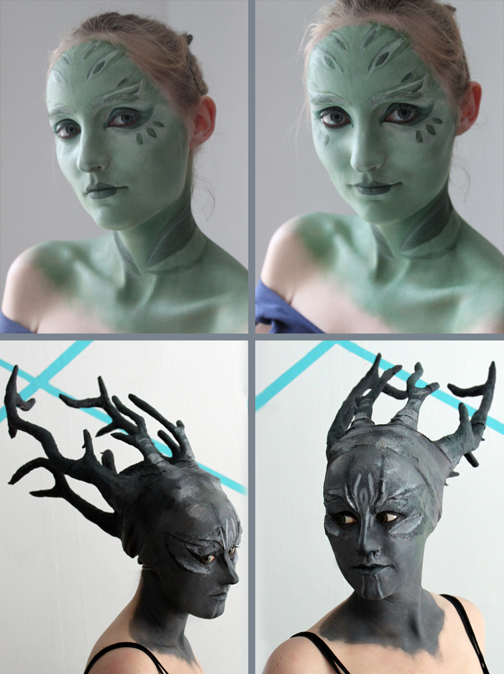 Sylvari Cosplay Progress - Make-up and Prosthetics by xPandorae