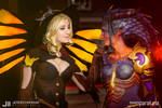 Witch Mercy and Dragon Symmetra - Overwatch
