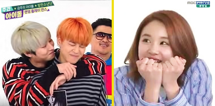 Chaeyoung Jimin (Twice BTS) on Weekly Idol by Slayxbuteras