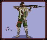 Samurai Warriors Pixel Art - Saika Magoichi
