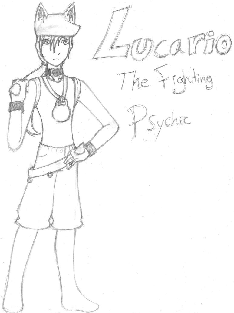 Human Lucario: the Fighting Psychic by 73RR1F13D-4M814NC3