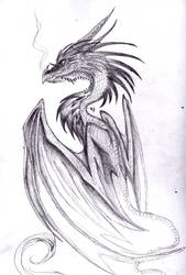 Dragon sketch by Nazgul666