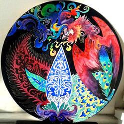 Paisely Simurgh/Phoenix by Nazgul666