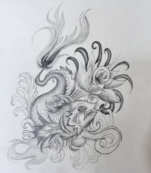 Koi Carp Tattoo Design