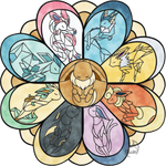 Eeveelutions in Stained Glass - 2