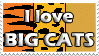 love big cats stamp by izka197