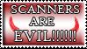 Evil scanner stamp