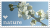 heart nature stamp