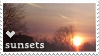 heart sunsets stamp