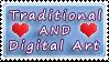 Tradi AND Digi Art Love stamp