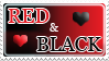 Red and Black love stamp by izka197