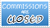 Commissions Closed Stamp by izka197