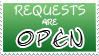 Requests Open Stamp by izka197
