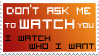 Don't ask stamp by izka197