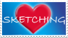 love sketching stamp by izka197