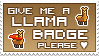 Llama Badge stamp by izka197