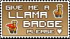 Llama Badge stamp by izka197